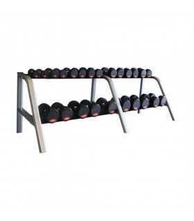 Mueble mancuernero de 6 bandejas ( mancuernas 2,5 kg a 40 kg )