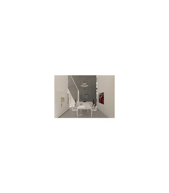 Mesa comedor 240 x 120 x 75 cm blanco, patas aluminio